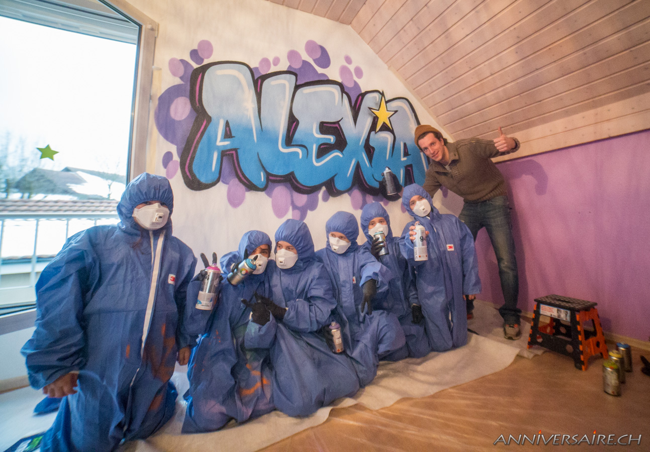 Graffeur suisse artiste peintre pro deco graffiti oeil