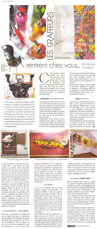 Actives article Graffeur novembre 2012