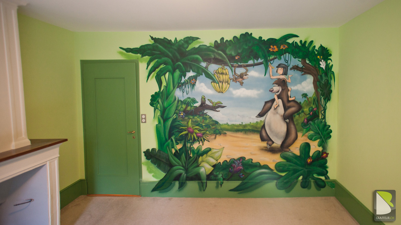 Deco Jungle Chambre Enfant le livre de la jungle