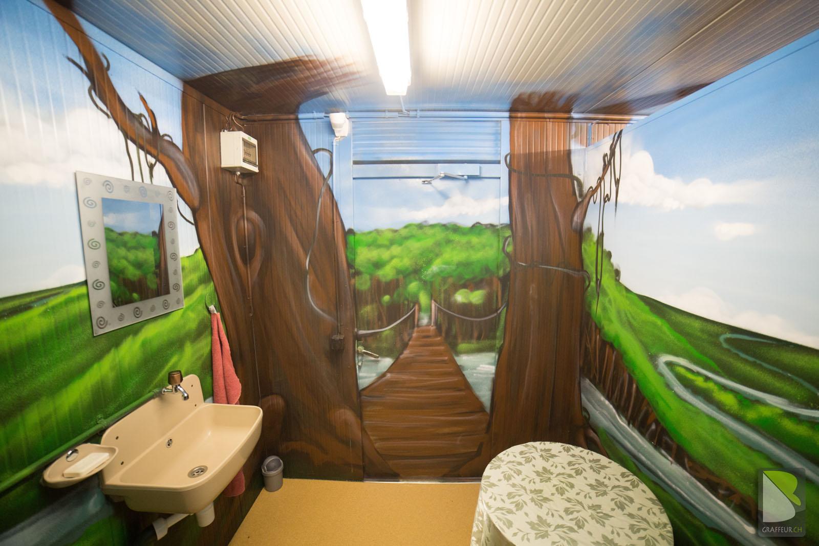 D Coration Nature Salle De Bain Toilettes Graffeur Ch