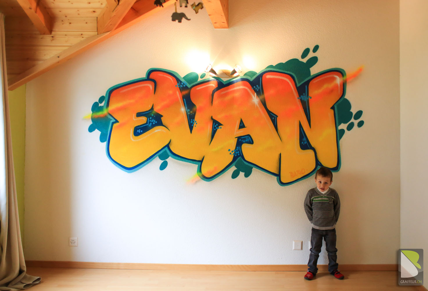 Peinture Tag Pour Chambre chambre enfant graffiti