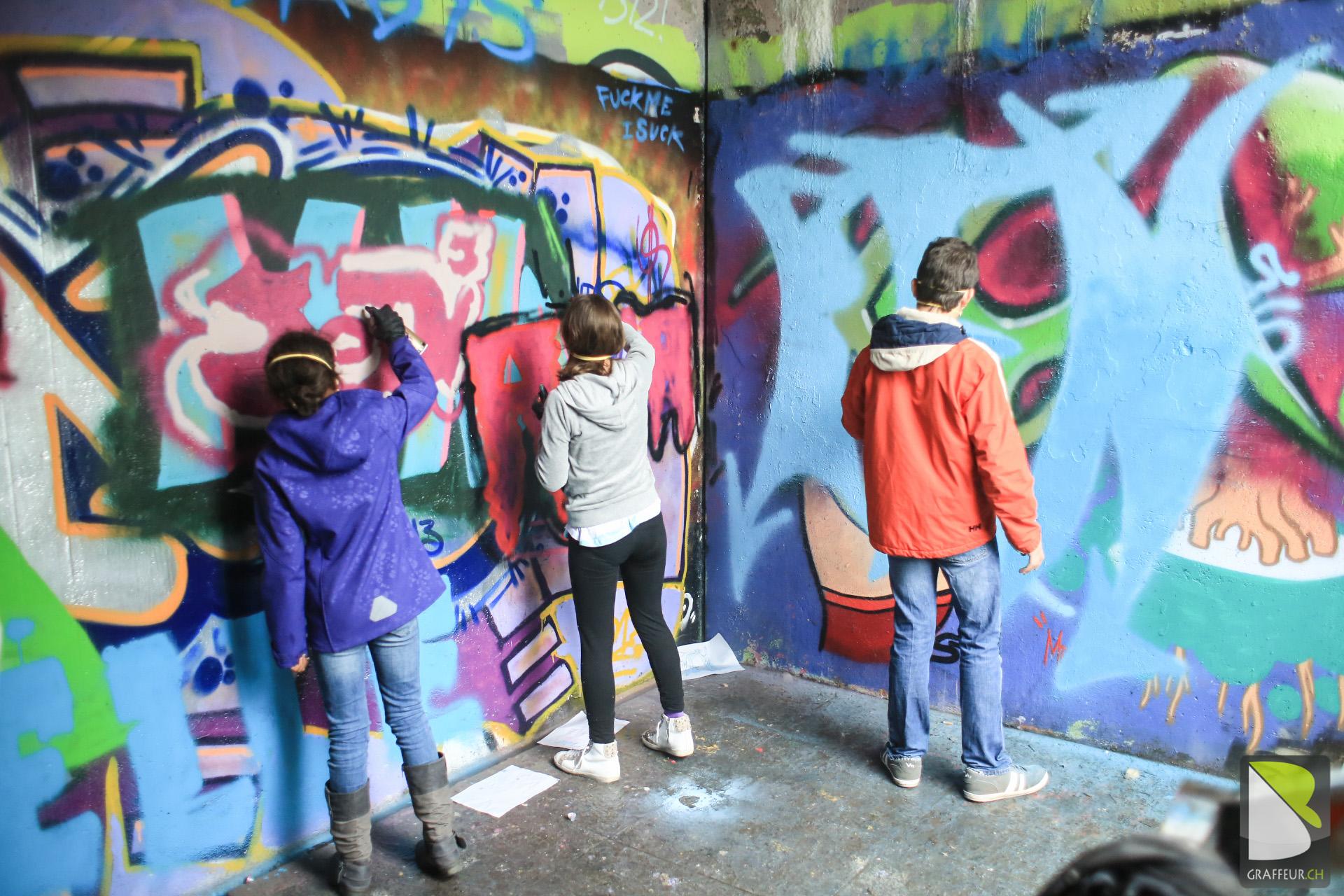 Turbo Atelier Graff Lausanne peinture enfant Ado-17   BARO : Graffiti  UN56