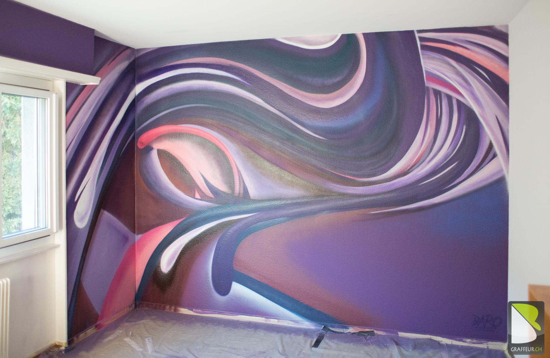 Peinture Tag Pour Chambre chambre fille deco abstrait