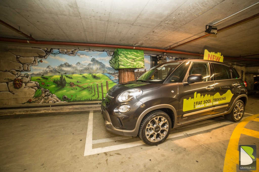 Déco Graff Parking Fiat Fribourg  BARO : Graffiti Artist Suisse