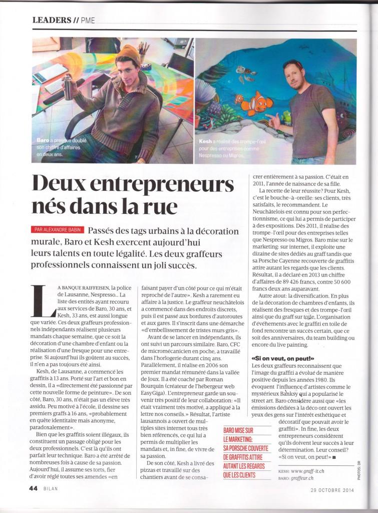 Bilan-article-graffiti Suisse