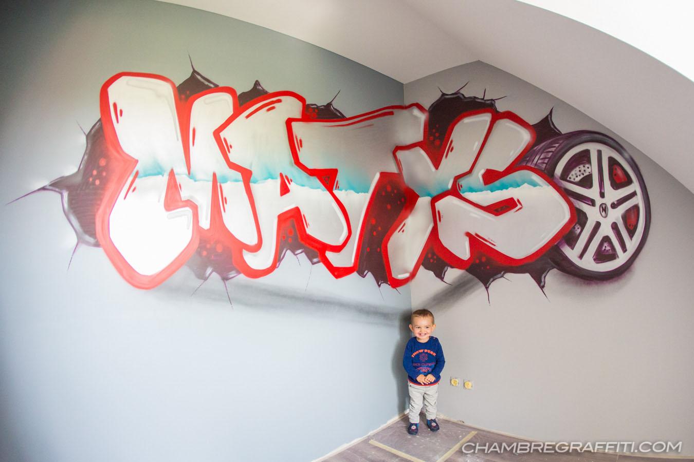 Chambre enfant en graff - Graffiti prenom gratuit ...