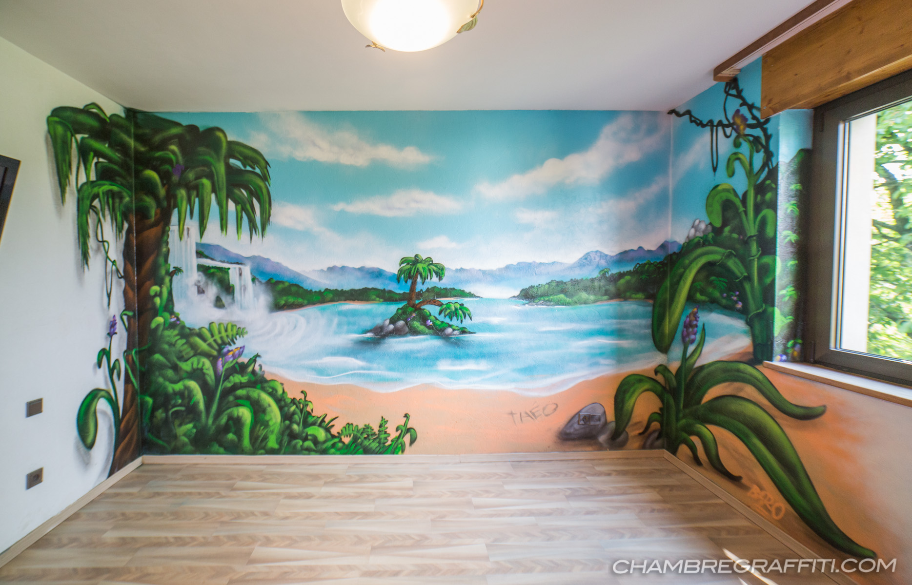 chambre graffiti jungle - Chambre Jungle Adulte