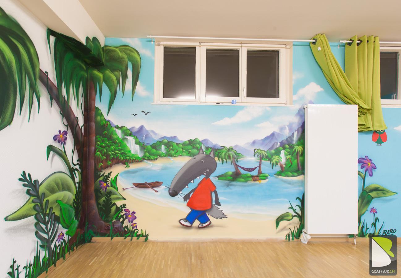 Deco Jungle Chambre Enfant enfant | graffeur.ch