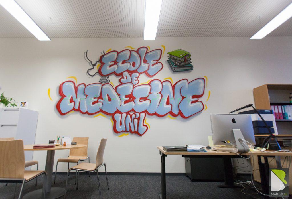 Ecole-Medecine-Graffiti-Unil-Chuv-Lausanne