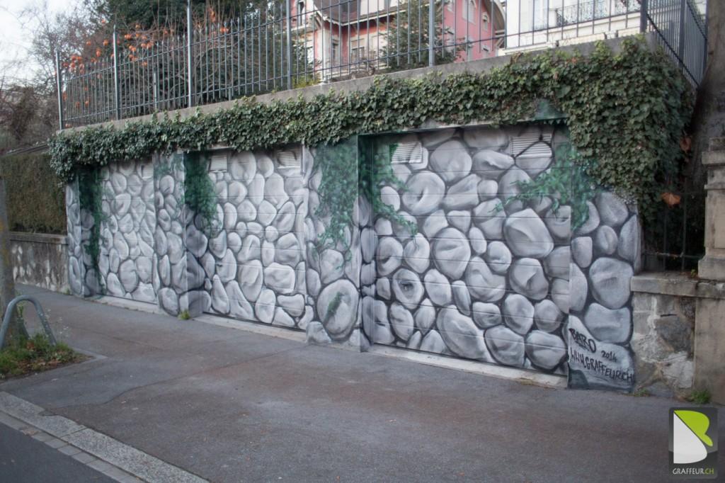 d cor de fausse pierre lausanne baro graffeur suisse