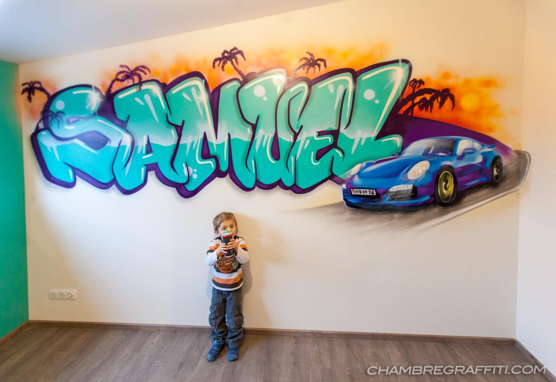 Peinture Tag Pour Chambre chambre enfant en graff